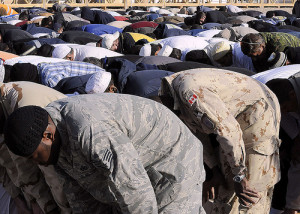 The inner and outer Jihad: Soldiers praying on Eid