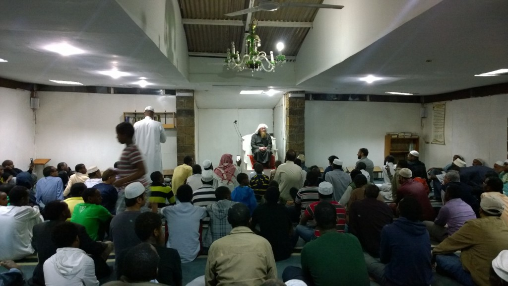 Imam Wasim Kempson at Adams Masjid, Nairobi. - ummah.co.ke