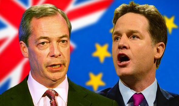 Farage left and Clegg Kenya severely lagging democratically