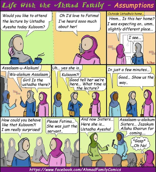 Life with the Ahmad Family Comics - Assumptions