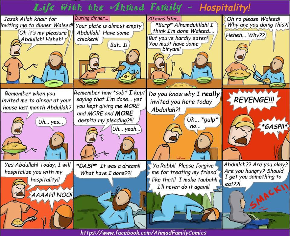 Life with the Ahmad Family Comics - Hospitality